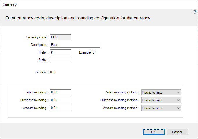 How To Configure The Currency